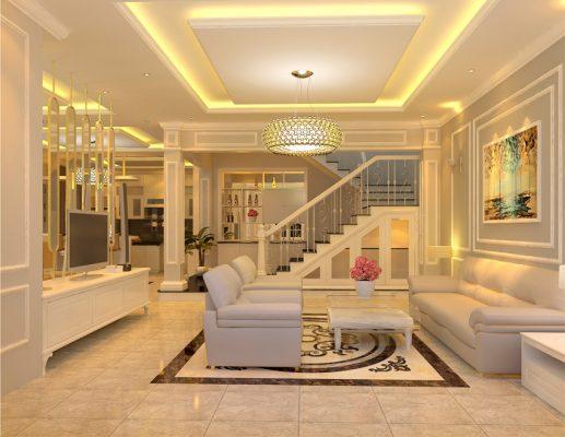 Giá thiết kế nội thất nhà ống, nhà biệt thự phong cách tân cổ điển ở nam định.