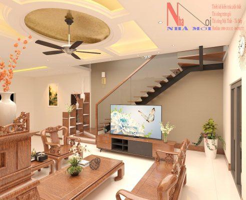 Thiết kế nội thất phòng khách ở nam định