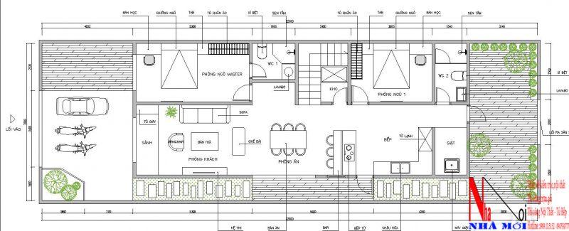 Công ty thiết kế nhà cấp 4 có 4 phòng ngủ ở Nam Định.