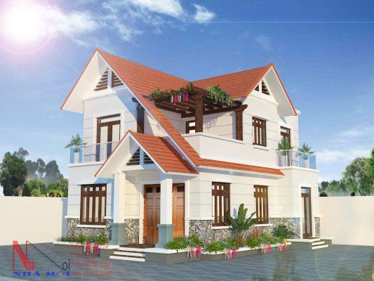 Báo giá xây nhà trọn gói nahf biệt thự 3 tầng mái tại Nam Định.