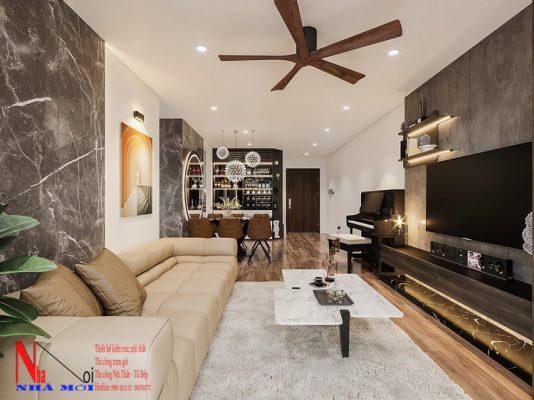 Thiết kế nội thất phòng khách ở nam định.