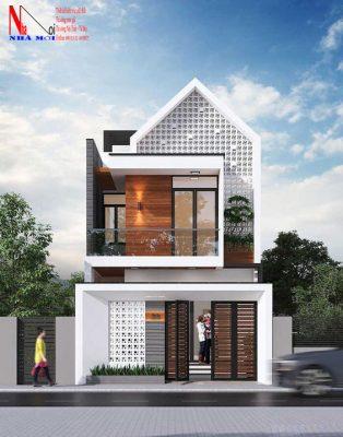 Mẫu thiết kế nhà 2 tầng sáng tạo, độc đáo, lạ mắt tại nam định.