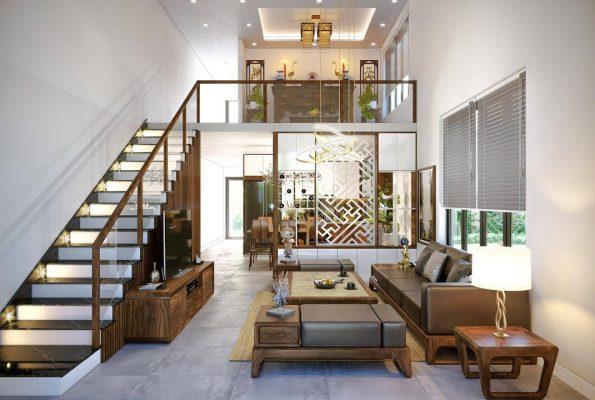 Công ty Thiết kế nội thất nhà ống 3 tầng ở Thành phố Nam Định.