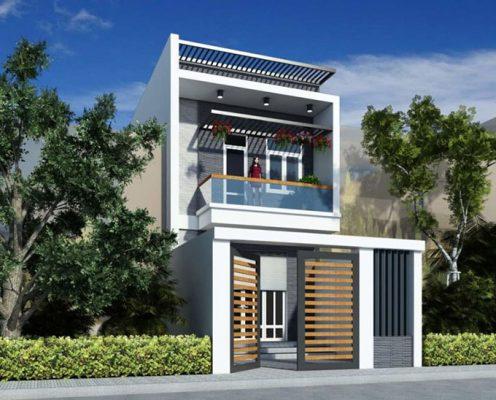 Công ty thiết kế nhà ống 2 tầng mái bằng chuyên nghiệp, uy tín ở Nam Định.